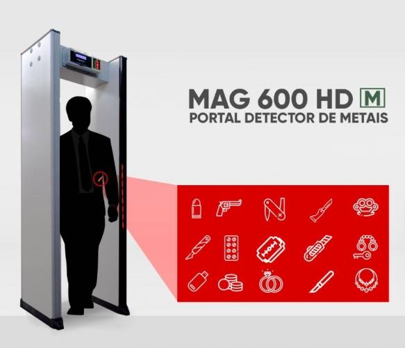 PORTAL DETECTOR DE METAIS -  MAG 600 HD M